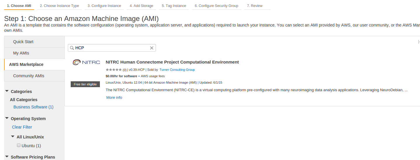 Cloud-Based Processing using HCP Pipelines and Amazon Web
